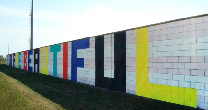 Spinafestival, for The City of Comacchio, Italy. 10' x 200'. 2007 - Present.