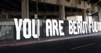 Los Angeles, CA. 8' x 80'. 2007.